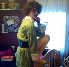 Savannah Legg ('16) dress as the character, Buddy The Elf from the movie, Elf. Photo by J. Swickard